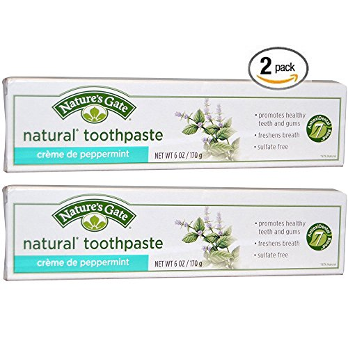 Essential Oils Herbal Toothpaste (Nature's Gate All Natural Creme de Peppermint Toothpaste, Flouride and Artifical Sweetener Free With Peppermint Essential Oil and Baking Soda For Healthy Mouth & Fresh Breath, 6 oz. (Pack of)