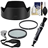 Canon EW-103 Lens Hood for RF 28-70mm f/2 L USM with UV & CPL Filters + Strap + Cleaning Kit