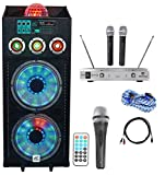 NYC Acoustics Dual 12'' Karaoke Machine/System 4 ipad/iphone/Android/Laptop/TV