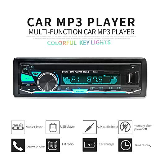 BOOMBOOST 12V 7003 Bluetooth in-Dish Car Automagnitol Radio Cassette Recorder One Din Stereo Audio Player