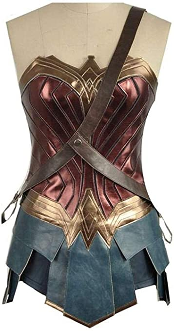 Tengda Superman Wonder Woman Top Skirt Outfit Halloween Cosplay ...