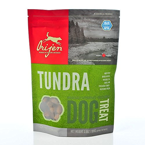Orijen Tundra Freeze-dried Dog Treats, 3.5-oz Bag (Pack of 6)