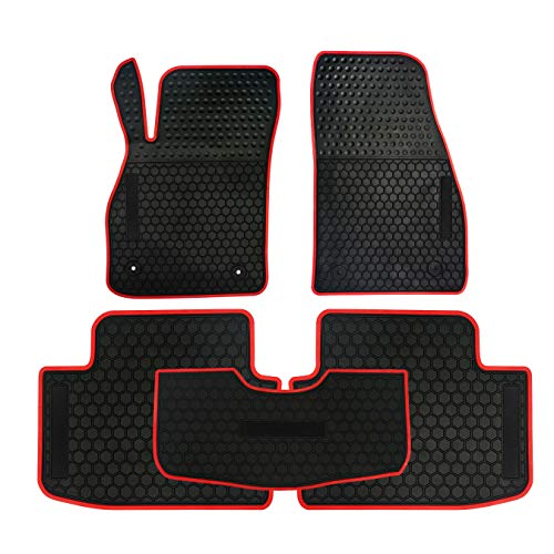 (biosp Compatible Fit Chevy Malibu 2014-2017 2018  Runner Front and Rear All Weather Floor Mats Liners Set Heavy Duty Rubber Car Carpet)