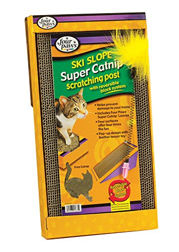 Four Paws Super Catnip Ski Slope Cat Scratching Post