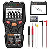 Kyпить Tacklife DM06 Premium Smart Digital Multimeter Auto-Ranging TRMS 6000 Counts AC/DC Voltage, Current, Resistance, Frequency, Temperature, Transistor, Continuity, Capacitance Tester, 2.7Inch Large LCD на Amazon.com