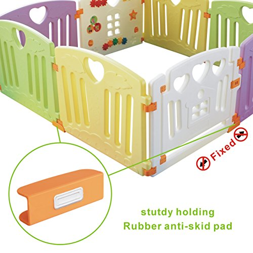 Baby Playpen Kids Activity Centre Safety Play Yard Home Indoor Outdoor New Pen (multicolour, Pudding set 8 panel) by Gupamiga (Image #5)