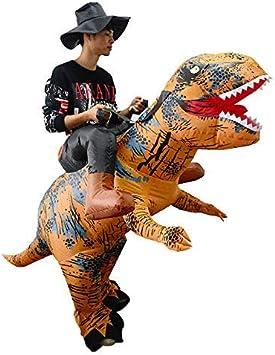 thematys Traje Inflable de Dinosaurio con Sombrero - Divertido Disfraz de Aire para Adultos 165cm-185cm Carnaval, Despedida de Soltero o Halloween