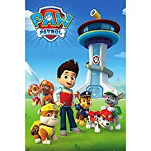 Paw Patrol Official Childrens/Kids Team Maxi Poster (One Size) (Blue/Green)