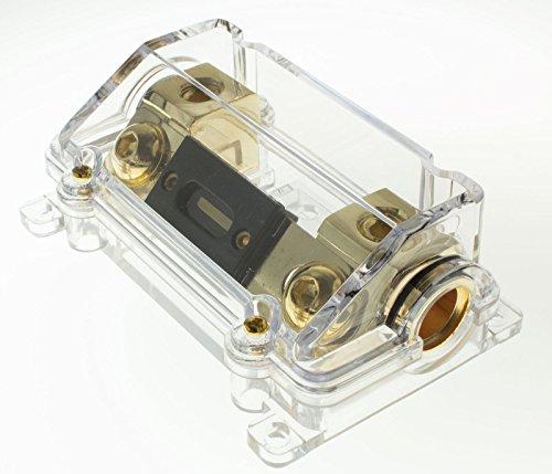 AudioTek USA Premium 0 Gauge ANL Fuse Holder 1/0 Gauge Car Amplifier Fuse Holder-Free 250AMP ANL Fuse by AudioTek USA Premium