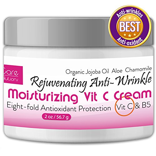 Skin Rejuvenating Face Treatment - Anti Wrinkle Cream – Anti Aging Cream – Elida Skin Care Moisturizer for Face and Best Wrinkle Treatment – Rejuvenating Vitamin C Cream + Vitamin B5 + Antioxidants – Organic