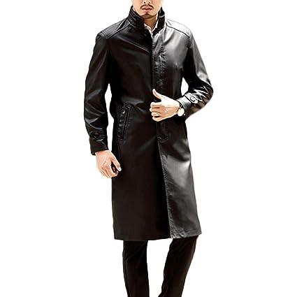 the best attitude 80d94 12750 Yra Cappotto Trench Medio-Lungo in Pelle per Abbigliamento ...