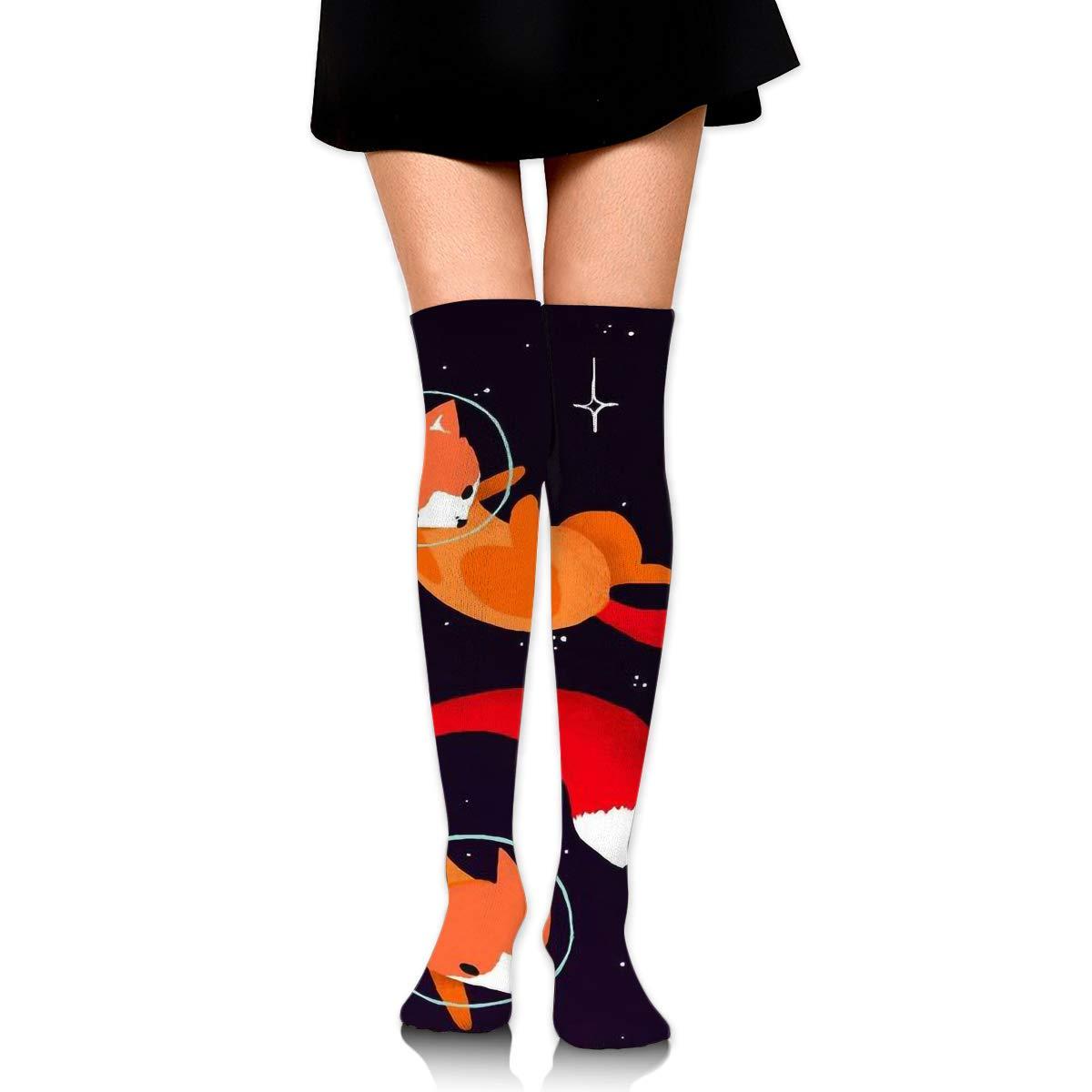 2 Pairs Womens Knee High Socks Fox Long Socks For Women Best For Athletic