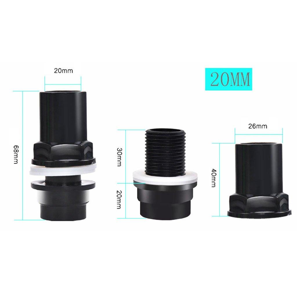 Adaptador de Junta de Tuber/ía Material de Construcci/ón PVC Altamente C/ómodo 25 mm de di/ámetro