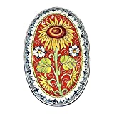 CERAMICHE D'ARTE PARRINI - Italian Ceramic Art Pottery Tray Plate Tile Sunflower Hand Painted Made in ITALY Tuscany