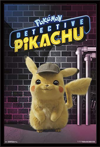 Trends International Detective Pikachu – Neon Wall Poster 24.25 X 35.75 Multi