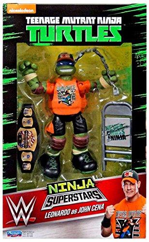 Teenage Mutant Ninja Turtles Ninja Super Stars: Leonardo As John Cena Figure Action (Ninja Turtles Who Is Who)
