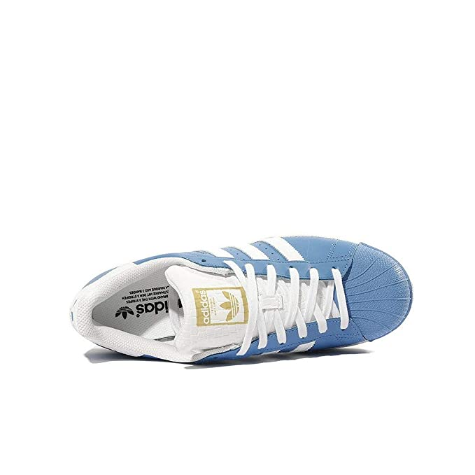 64db6879d3fa3 adidas Schuhe Superstar Ray Blue-Running White-Runnning White (S75881) 44  2 3 Blau  Amazon.it  Sport e tempo libero