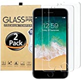 "Yibooo for iPhone 8plus, 7plus, 6plus Screen Protector Glass, Yibooo Tempered Glass Screen Protector for Apple iPhone 8plus, 7plus, iPhone 6s Plus, iPhone 6plus [5.5"" inch](2-Pack)"