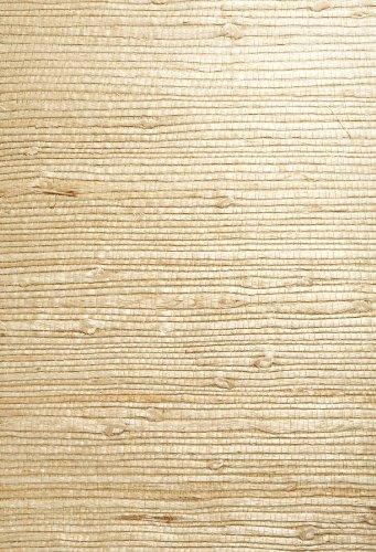 Kenneth James 63-54726 Bing Qing Grass Cloth Wallpaper, Beige