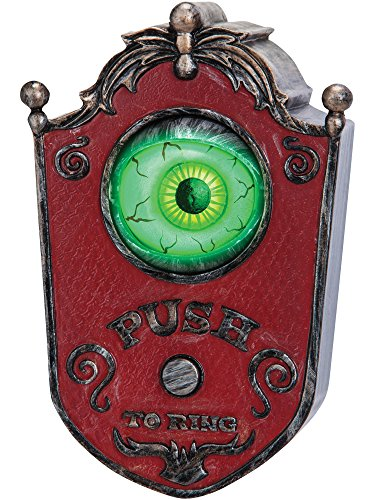 Light-Up Talking Eyeball Doorbell - Haunted House Halloween Party Prop Decoration -