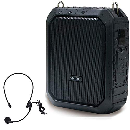 Potable Voice Amplifier with Wired Mic headsets, 18W Microphone and Speaker 4400mAh Rechargeable PA Loudspeaker Personal Amplification Bluetooth Powerful System for teachers Singing Tour Guide ect