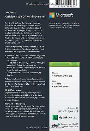 Aktivieren von Office 365-Diensten: Original Microsoft ...