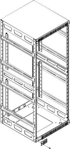 Slim 5 Series Adjustable ''Split'' Rear Rackrail Rack Spaces: 21U Rackspaces, Depth: 20'' D by Middle Atlantic (Image #2)