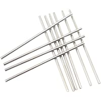 CCTVMTST 10Pcs Stainless Steel 3mm x 100mm Round Shaft Rod Bars for DIY RC Helicopter Airplane