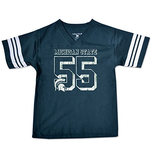College Kids NCAA Michigan State Spartans Youth Football Tee, Size 7/X-Small, Dark Green