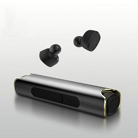 SUNLMG Los Auriculares De Bluetooth 4.2V Binaural Verdaderos Auriculares Inalámbricos Estéreo con Mini Micrófonos Y