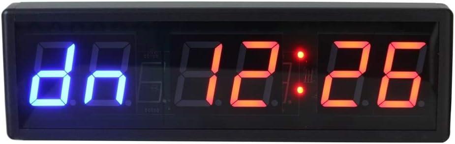 LEDスポーツタイマー リモコン付き内部トレーニングタイマージムボクシングストップウォッチLEDデジタルウォールクロック デジタルスポーツタイマー (色 : ブラック, サイズ : 38.6X12X3.5CM) ブラック 38.6X12X3.5CM