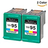 Valuetoner Remanufactured Ink Cartridge Replacement For Hewlett Packard HP 95 CD886FN C8766WN (2 Tri-Color) 2 Pack