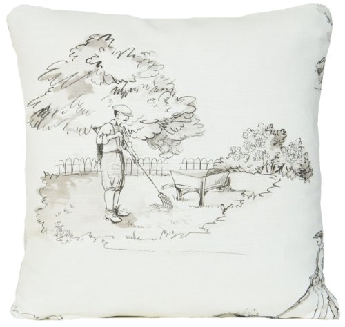 Gardener Decorative Pillow Case Cream Cushion Cover Nina Campbell Fabric Promenade (Irish Country Cream)