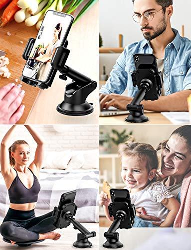 Mpow Soporte Coche Movil, Salpicadero/Parabrisas Porta Movil para Coche con Rotación de 360°, Universal Soporte Telefono… 2