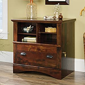 Sauder Harbor View 1 Drawer Lateral File Cabinet in Curado Cherry