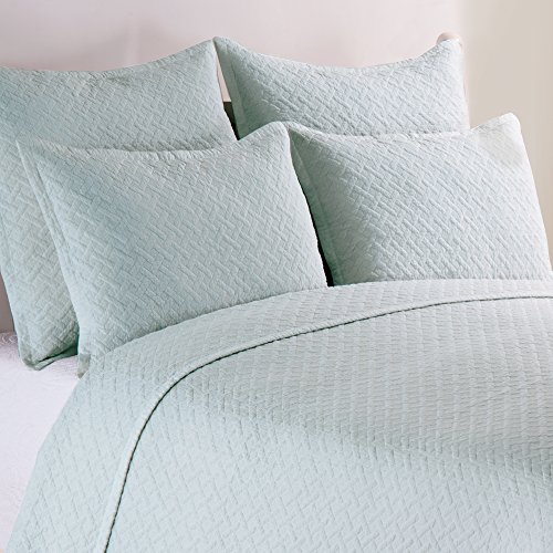 Basketweave Spa Full/Queen Quilt Set by C&F Home (Image #1)