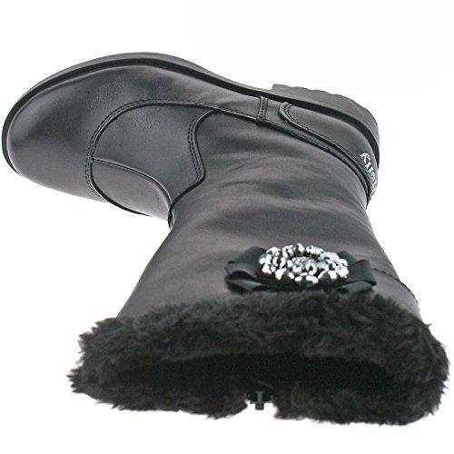 UK 26 LK8594 8 Boots Pelle Nero Hilary Kelly CB01 Lelli 8xaFTOww