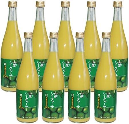 琉球フロント 沖縄名産 山原(ヤンバル) シークワーサー 果汁100% 720ml ×9本セット
