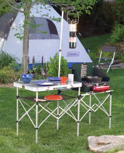 amazoncom coleman pack away kitchen camping tables sports outdoors. beautiful ideas. Home Design Ideas
