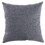 dark grey curtains ikea Kevin Textile Burlap Decorative Throw Pillow Euro Sham Pillowcase Home Cushion Cover, 18