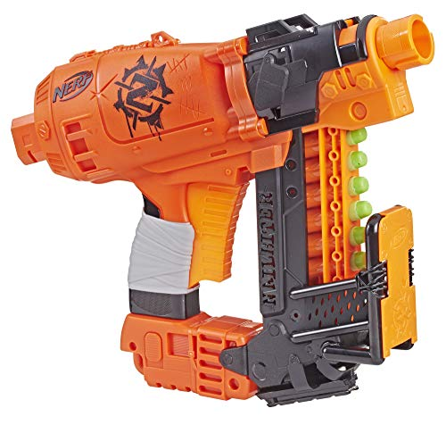 NERF Nailbiter Zombie Strike Toy Blaster - 8 Official Zombie Strike Elite Darts, 8-Dart Indexing Clip - Survival System - for Kids, Teens, Adults (Best Nerf Gun Under 20 Dollars)