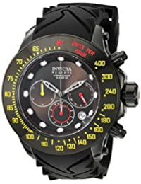 Invicta Men's 'Reserve' Swiss Quartz Stainless Steel and Silicone Casual Watch, Color:Black (Model: 22141)