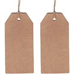 Dress My Cupcake 50-Pack Gift Hang Tag with String, Classic Kraft
