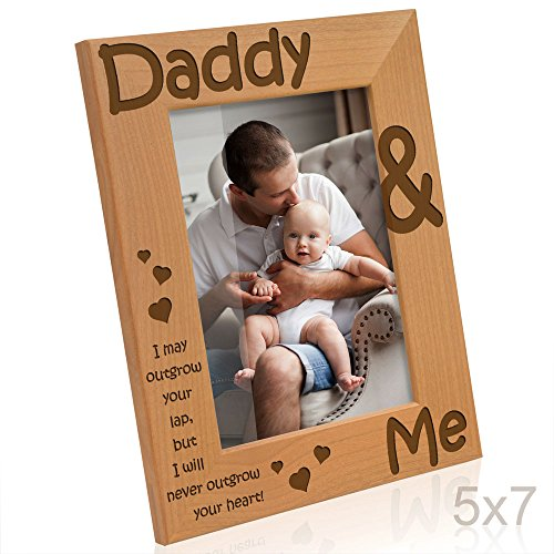 (Kate Posh - Daddy & Me - I may outgrow your lap, but I will never outgrow your heart - Picture Frame (5x7 -)