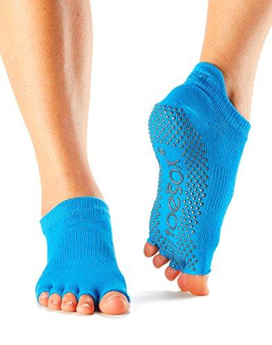 ToeSox Women's Grip Half Toe Low Rise Socks