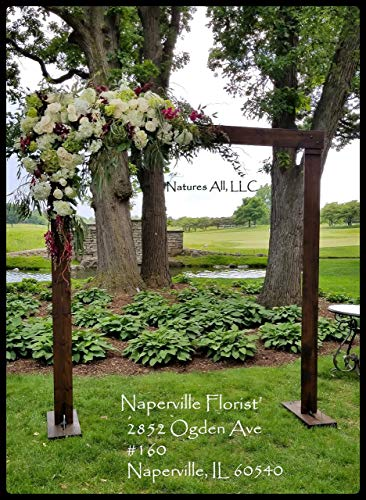Rustic Wooden Wedding Arch Or Arbor Complete Kit For Indoor Or Outdoor Weddings Stained In Dark Walnut -