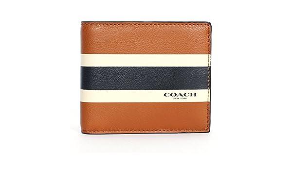 Coach f75086 sillín de compacto ID cartera de piel de vacuno ...