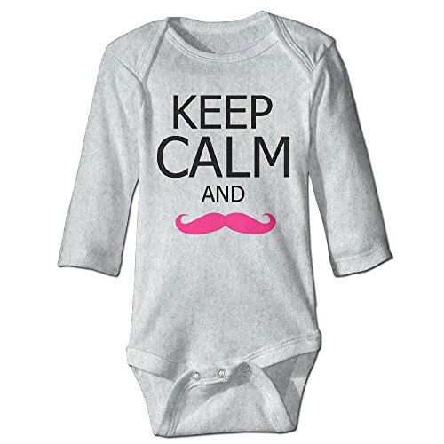HYRONE Markiplier Warfstache Baby Bodysuit Long Sleeve Romper Suits Size 6 M Ash -