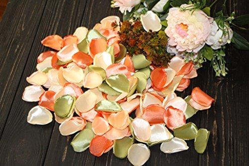Autumn Wedding, Set of 100, Flower Girl Petals, Aisle Runners Decor, Garden Wedding, Blush Rose Petals, Satin Fabric Flowers, Halloween Decor, Tossing Petal from Rose Petals by Walking Cradles