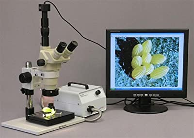AmScope HL150-AR Microscope Halogen Fiber Optic Ring Illuminator 150W